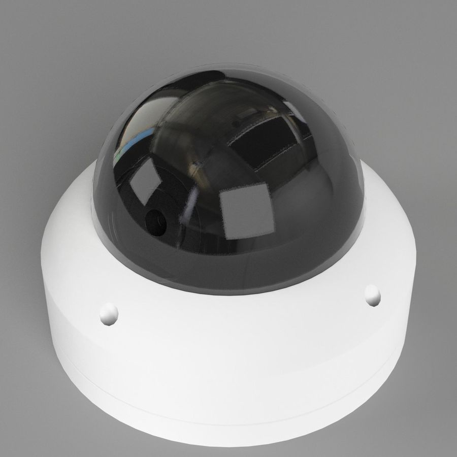 Dome surveillance camera royalty-free 3d model - Preview no. 2