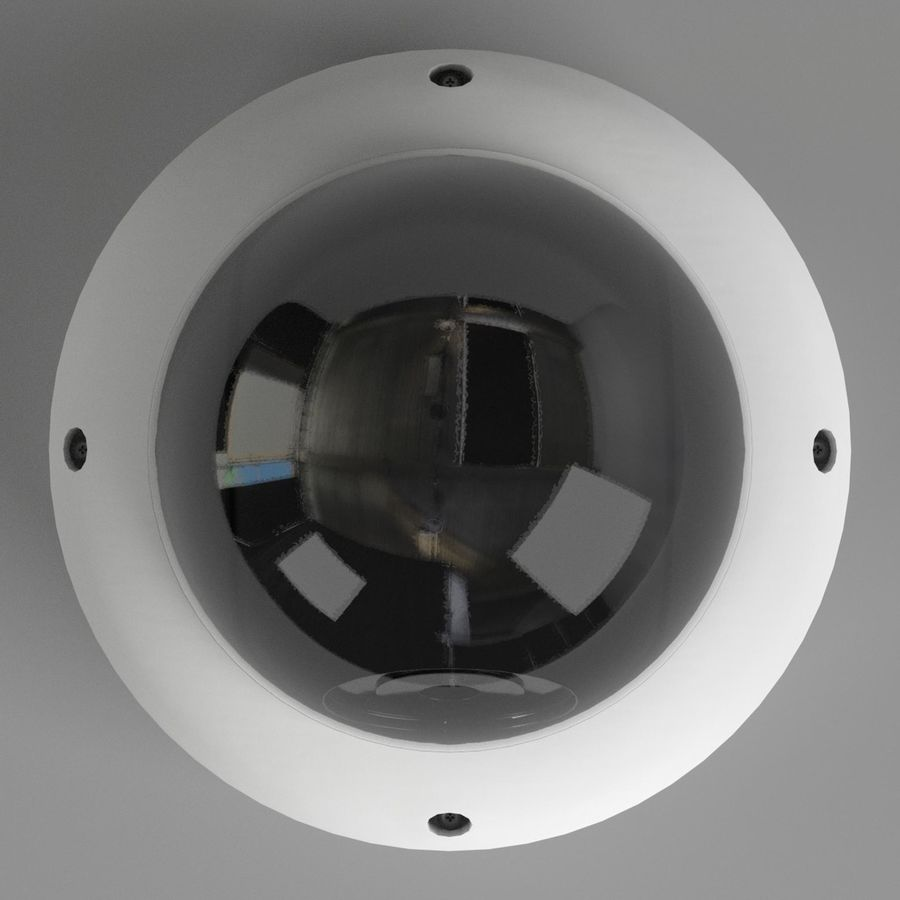 Dome surveillance camera royalty-free 3d model - Preview no. 6