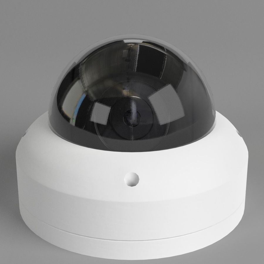Dome surveillance camera royalty-free 3d model - Preview no. 1