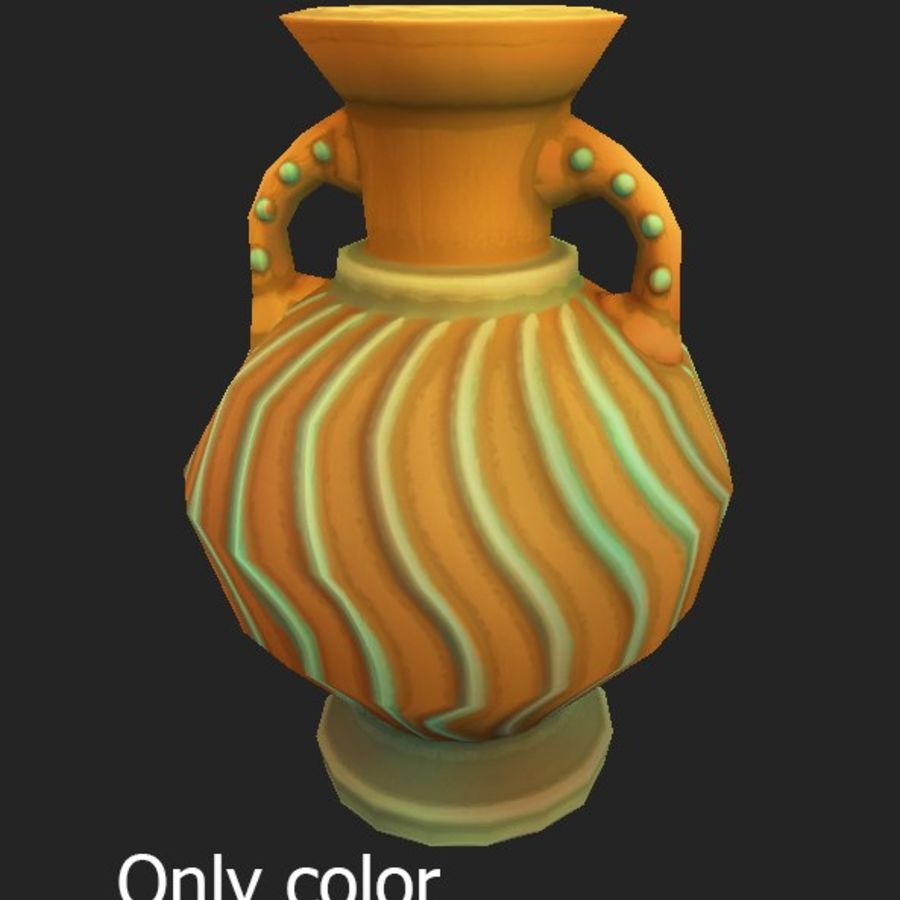 amphora royalty-free 3d model - Preview no. 8