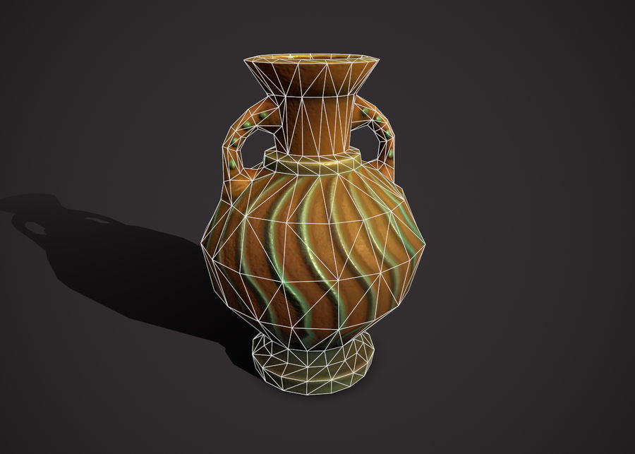 amphora royalty-free 3d model - Preview no. 3