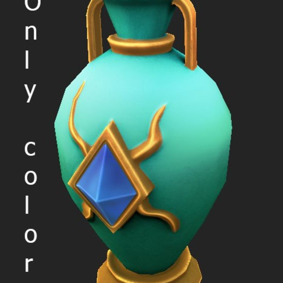amphora royalty-free 3d model - Preview no. 8