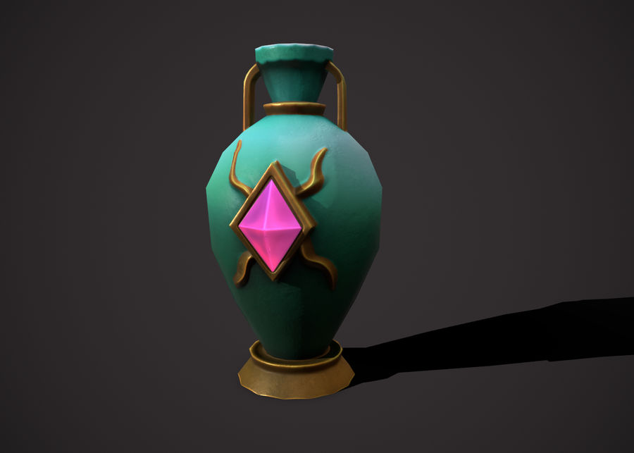 amphora royalty-free 3d model - Preview no. 3