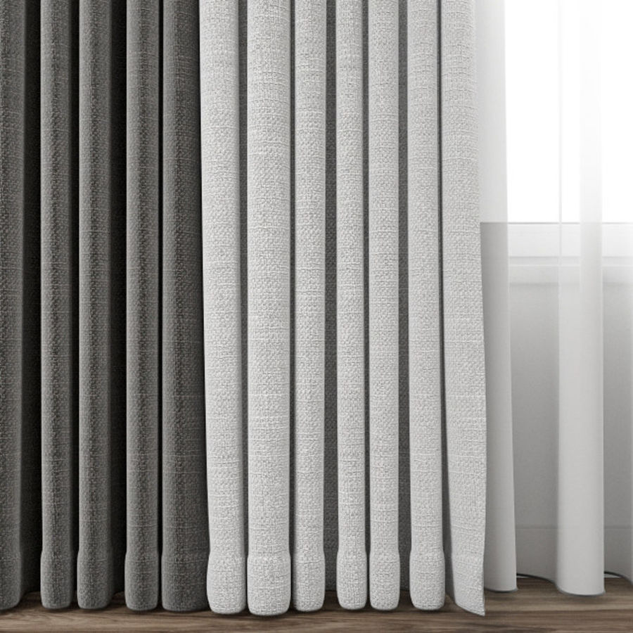 Curtain 65 royalty-free 3d model - Preview no. 2