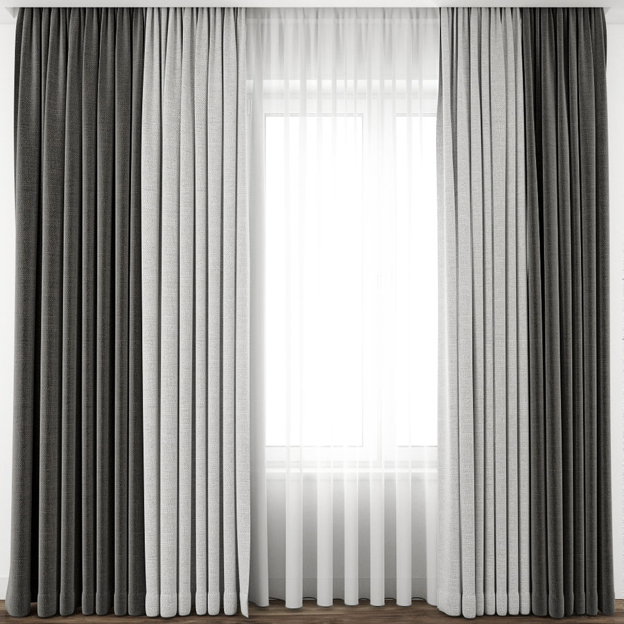 Curtain 65 royalty-free 3d model - Preview no. 3