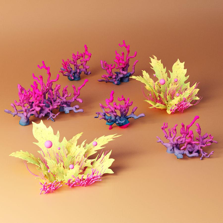 Aquatic plants royalty-free 3d model - Preview no. 1