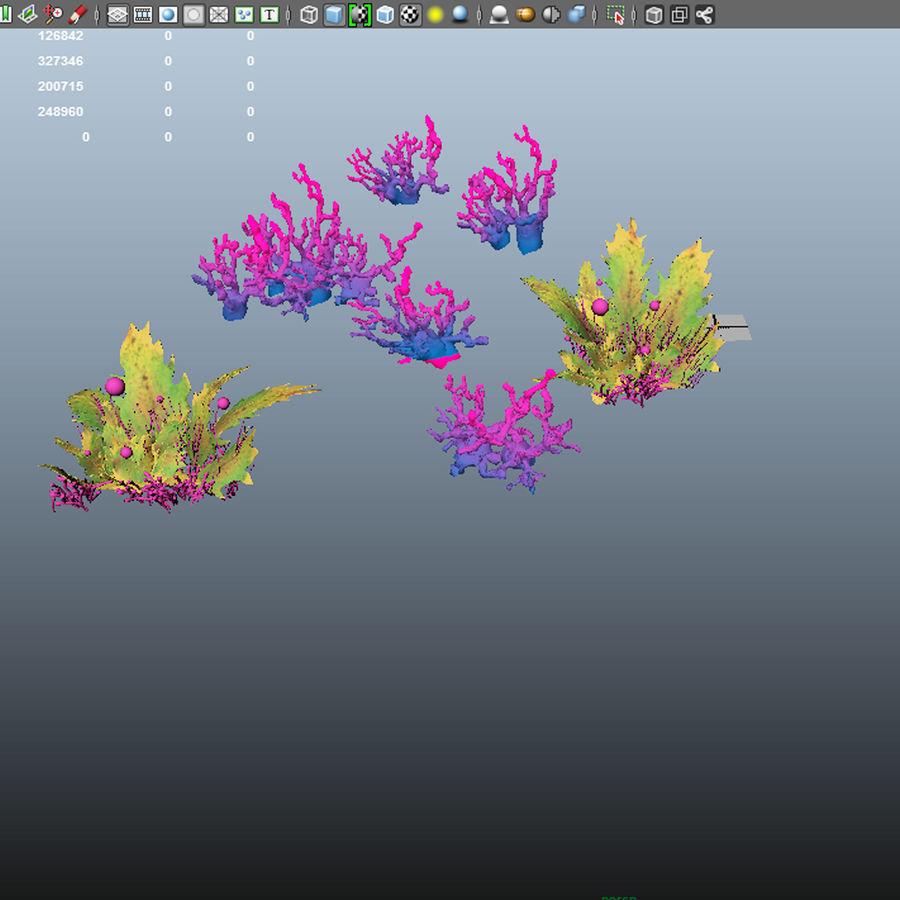 Aquatic plants royalty-free 3d model - Preview no. 6