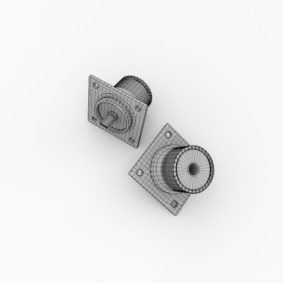 SO239 Монтаж в панель royalty-free 3d model - Preview no. 5