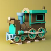 Cartoon locomotive 3d model