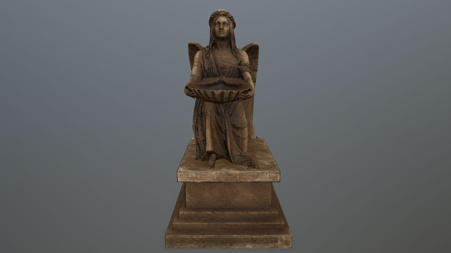 Statua anioła royalty-free 3d model - Preview no. 2