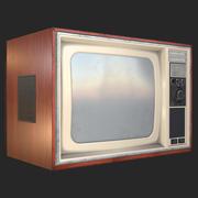 Televisão retrô dos anos 80 3d model