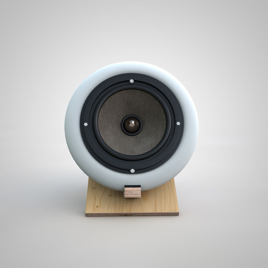 Altavoces de audio royalty-free modelo 3d - Preview no. 3