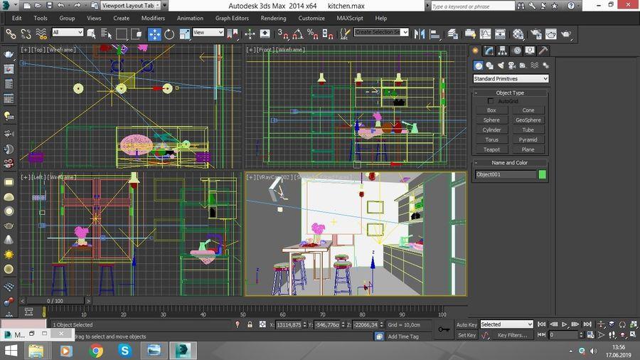 Keuken / modern interieur royalty-free 3d model - Preview no. 5