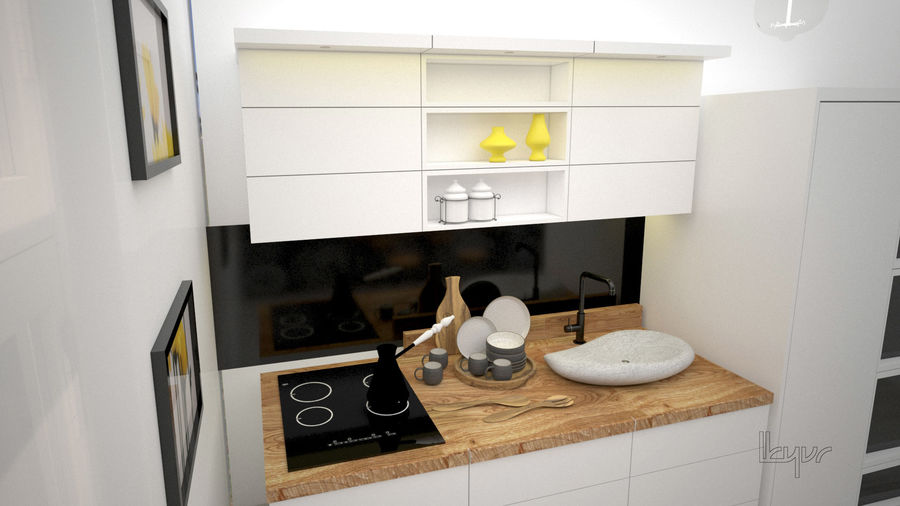 Kitchen/modern interior royalty-free 3d model - Preview no. 4