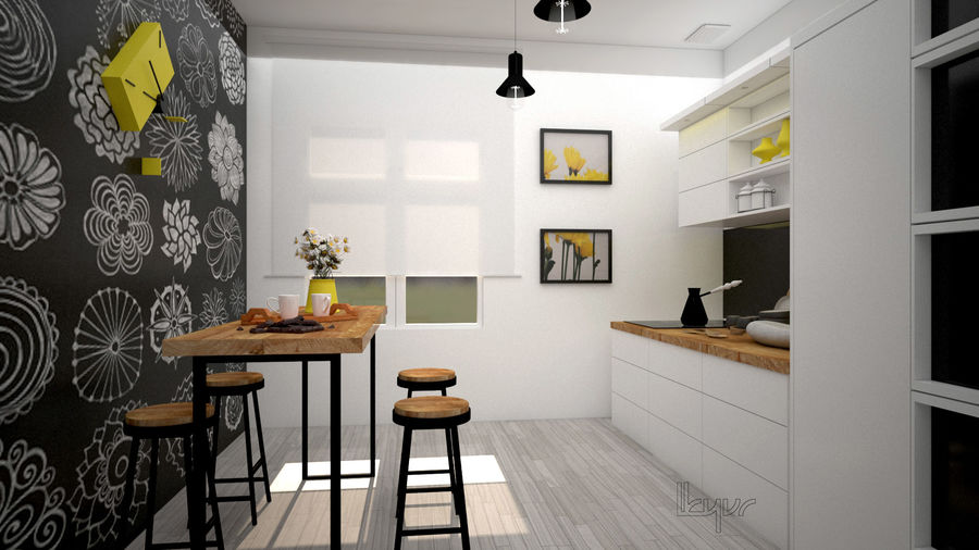 Kitchen/modern interior royalty-free 3d model - Preview no. 1