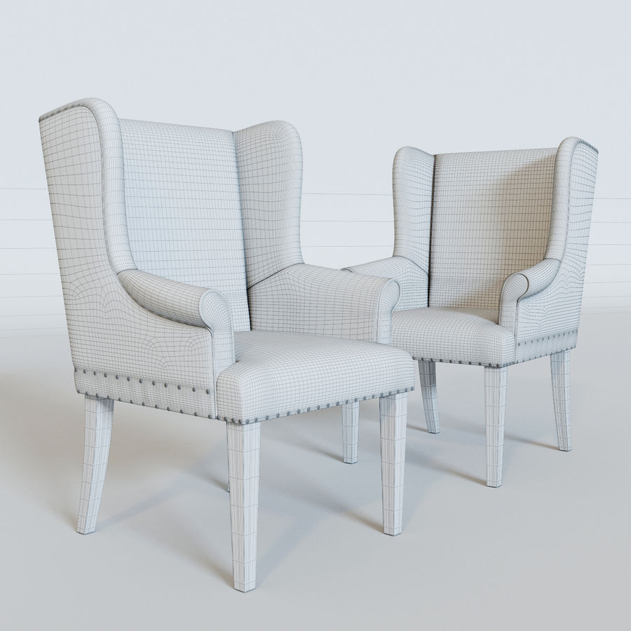 Ollesburg Dining Room Chair royalty-free 3d model - Preview no. 6