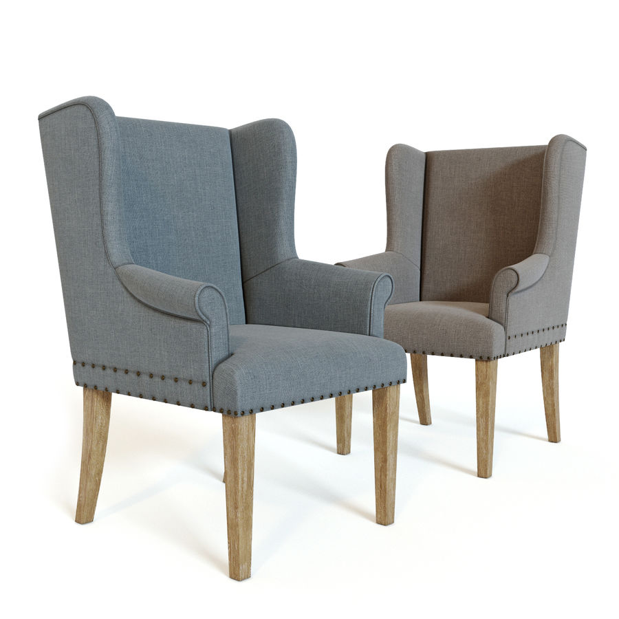 Ollesburg Dining Room Chair royalty-free 3d model - Preview no. 5