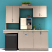 Armoires de cuisine de bureau 3d model