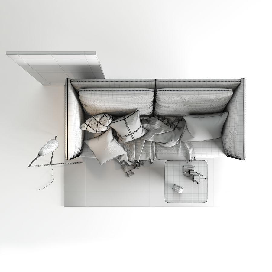 BoConcept Nantes soffa royalty-free 3d model - Preview no. 13