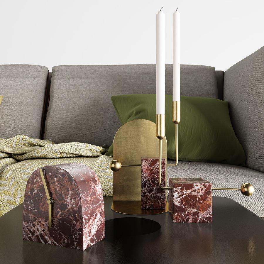 BoConcept Nantes soffa royalty-free 3d model - Preview no. 7