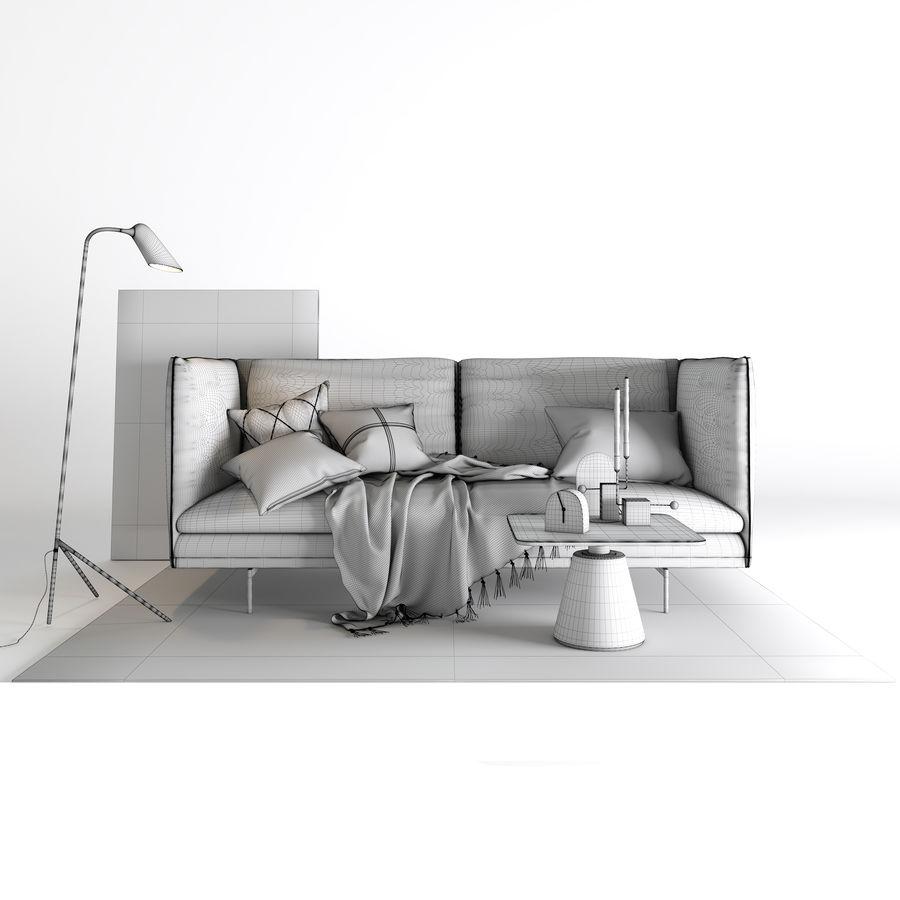 BoConcept Nantes soffa royalty-free 3d model - Preview no. 4