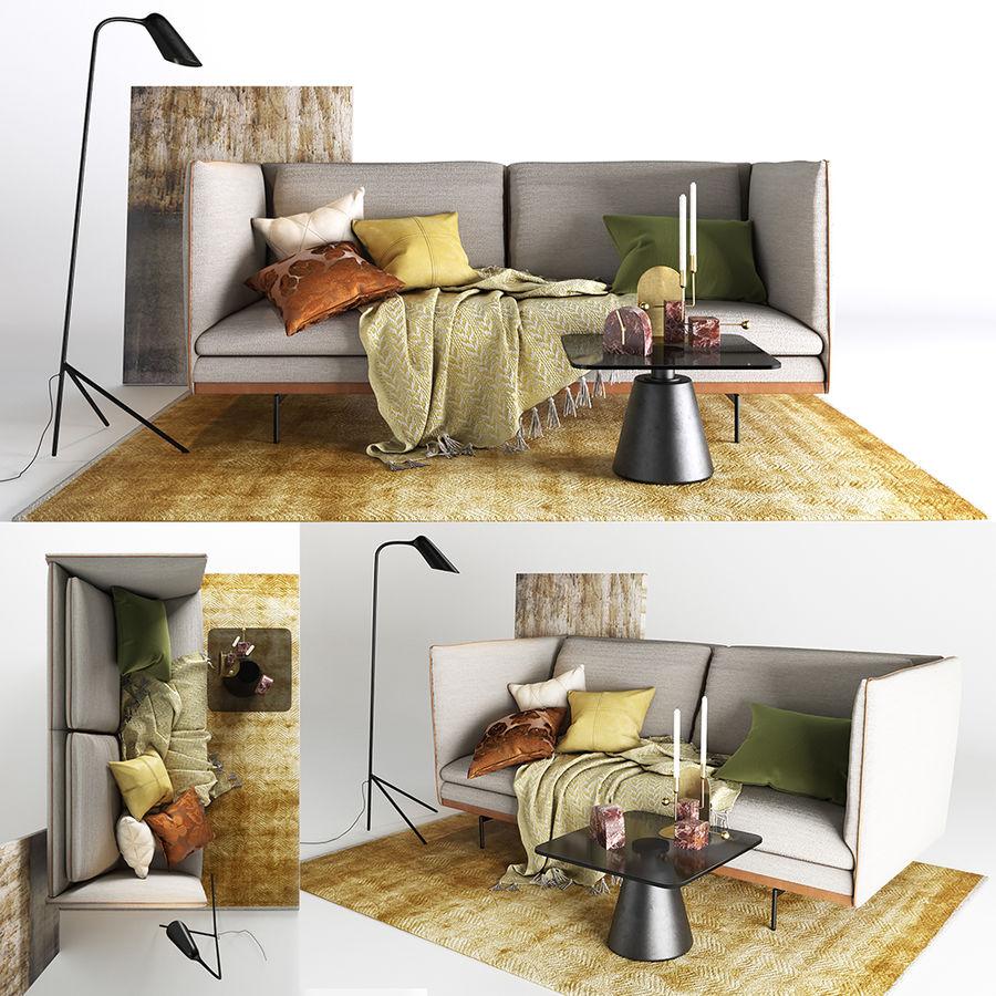 BoConcept Nantes soffa royalty-free 3d model - Preview no. 1