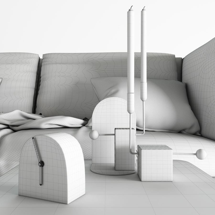 BoConcept Nantes soffa royalty-free 3d model - Preview no. 12