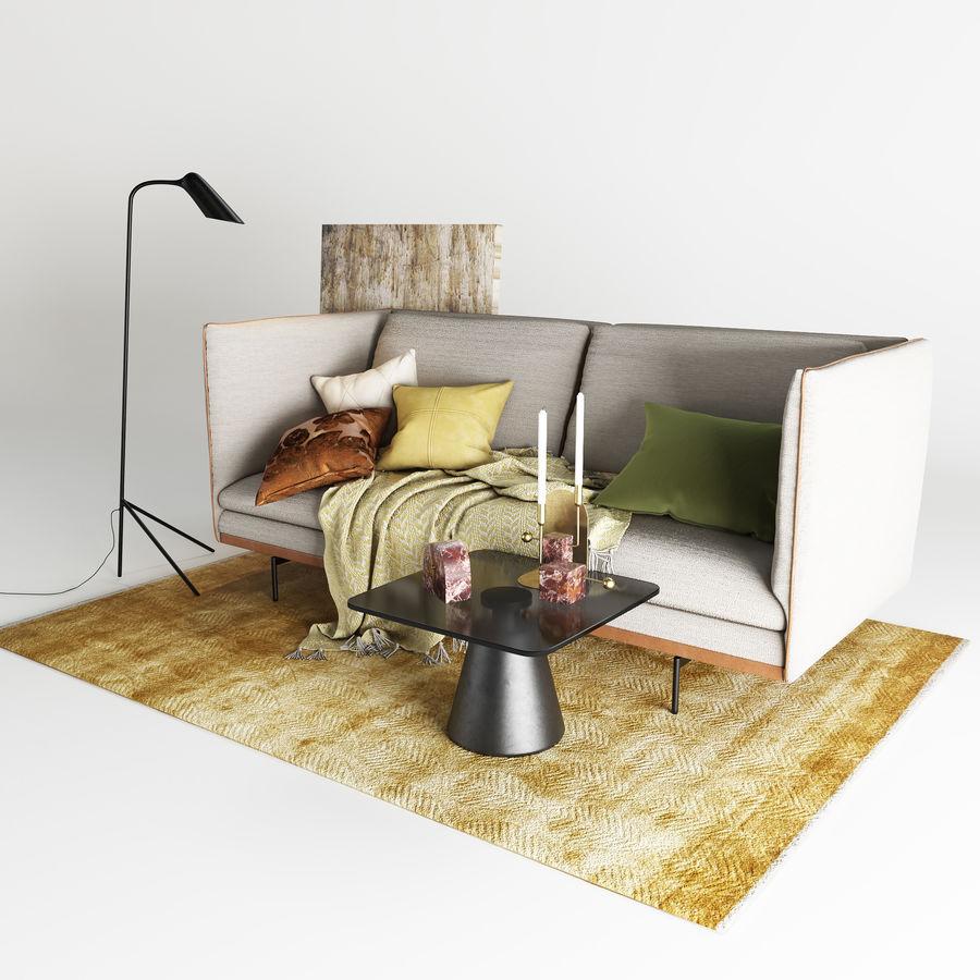BoConcept Nantes soffa royalty-free 3d model - Preview no. 5
