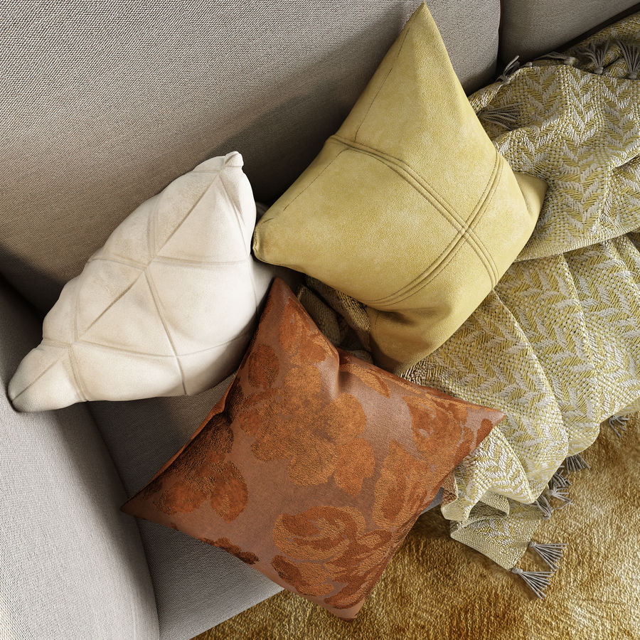 BoConcept Nantes soffa royalty-free 3d model - Preview no. 9