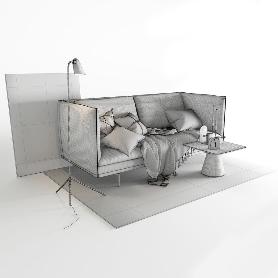 BoConcept Nantes soffa royalty-free 3d model - Preview no. 11