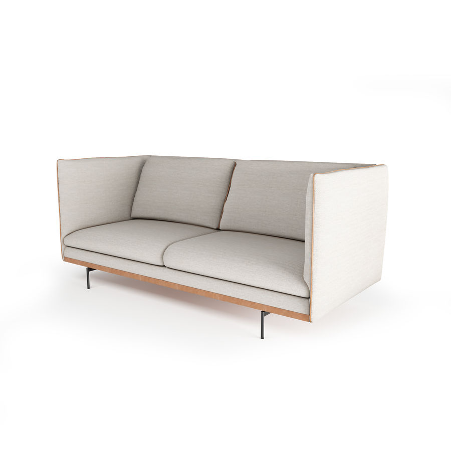 BoConcept Nantes soffa royalty-free 3d model - Preview no. 15