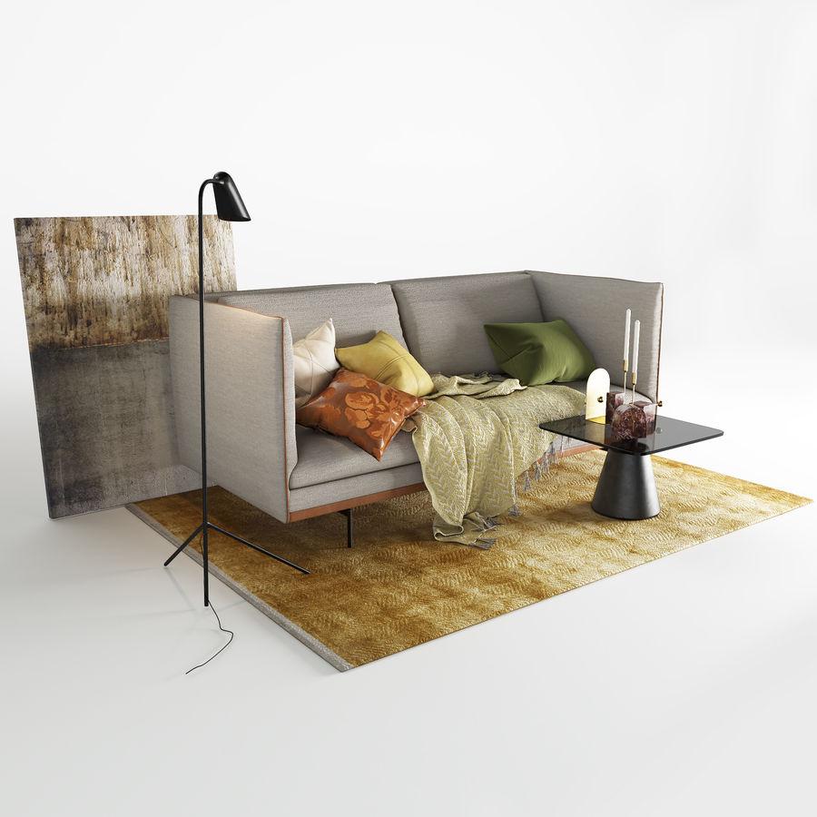 BoConcept Nantes soffa royalty-free 3d model - Preview no. 6