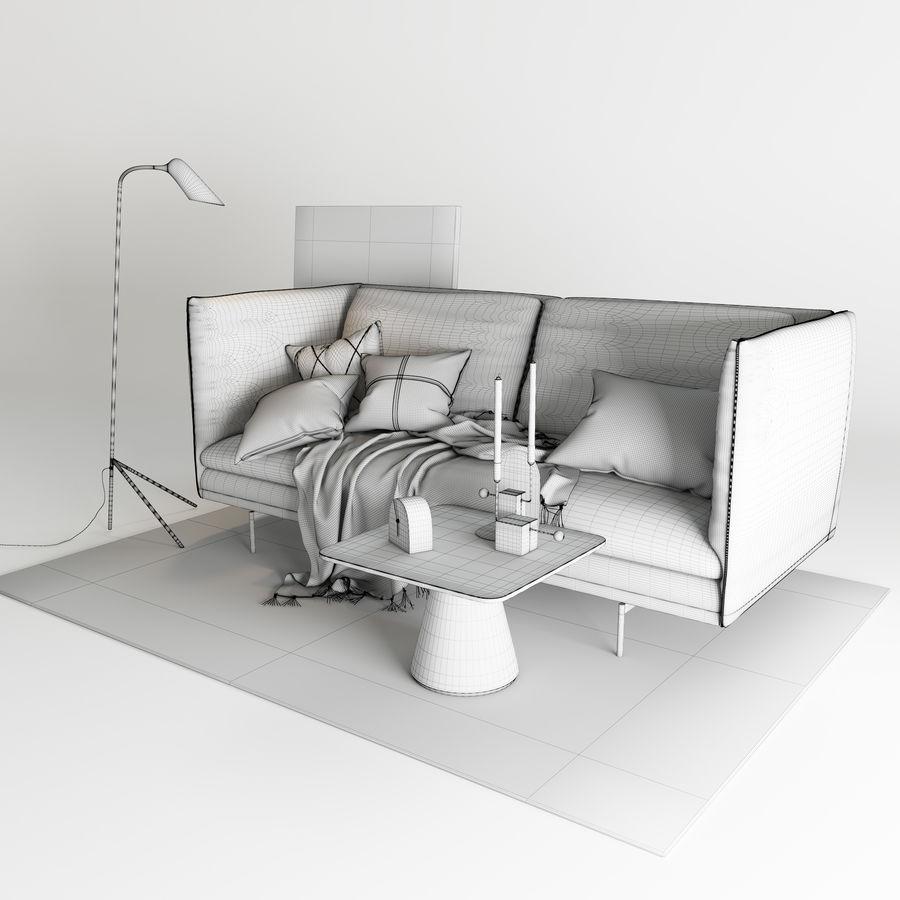 BoConcept Nantes soffa royalty-free 3d model - Preview no. 10