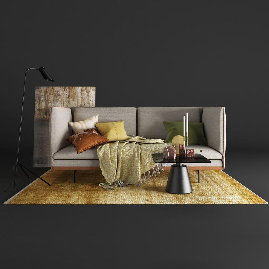 BoConcept Nantes soffa royalty-free 3d model - Preview no. 3