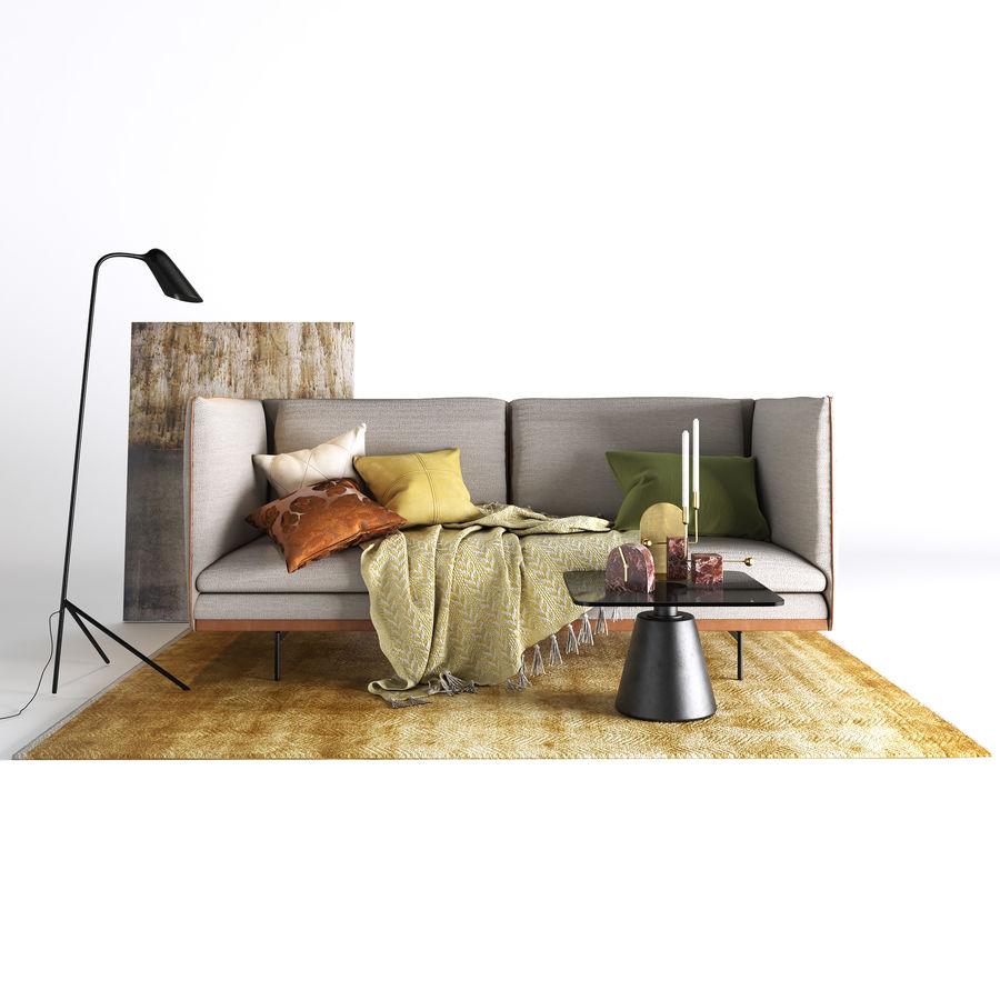 BoConcept Nantes soffa royalty-free 3d model - Preview no. 2