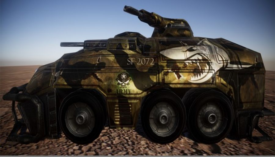 Armored Assault Vehicle 3D royalty-free 3d model - Preview no. 2