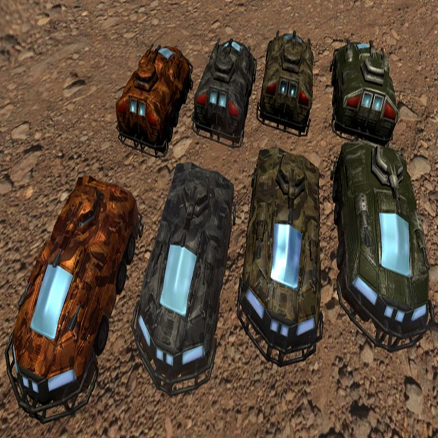 Armored Assault Vehicle 3D royalty-free 3d model - Preview no. 1
