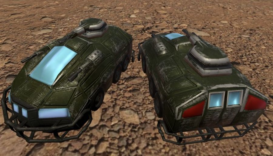 Armored Assault Vehicle 3D royalty-free 3d model - Preview no. 10