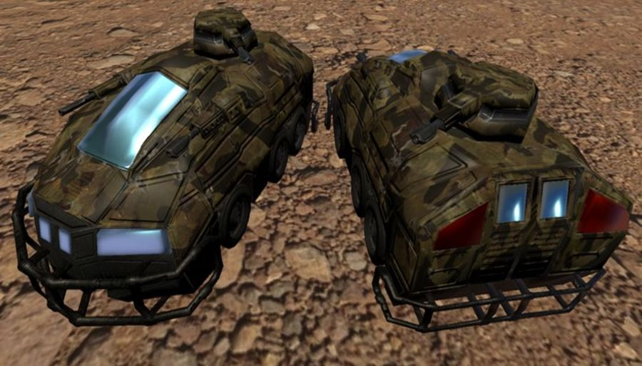 Armored Assault Vehicle 3D royalty-free 3d model - Preview no. 4