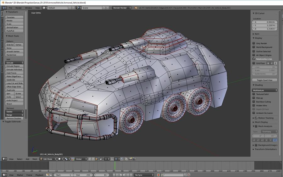 Armored Assault Vehicle 3D royalty-free 3d model - Preview no. 12