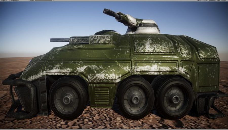 Armored Assault Vehicle 3D royalty-free 3d model - Preview no. 11