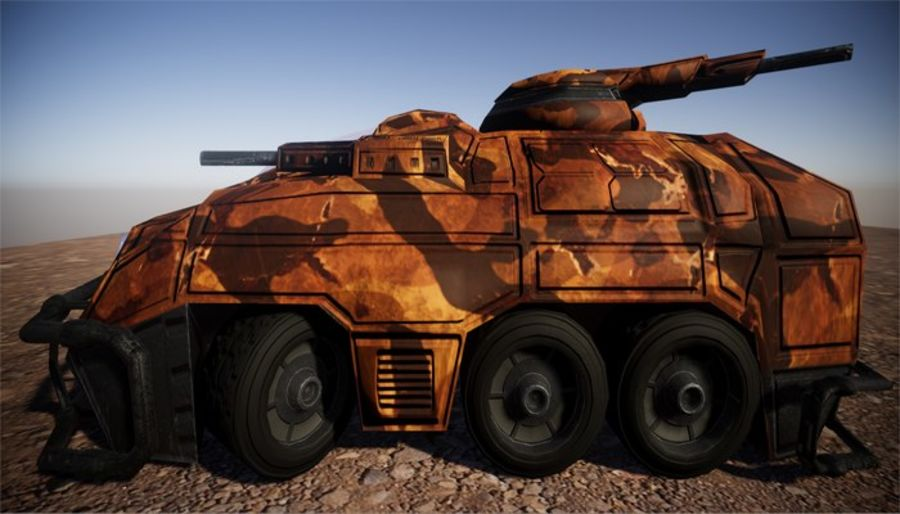 Armored Assault Vehicle 3D royalty-free 3d model - Preview no. 7