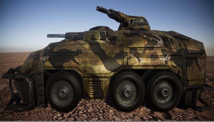 Armored Assault Vehicle 3D royalty-free 3d model - Preview no. 5