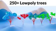 Mega pack de árboles de baja poli modelo 3d
