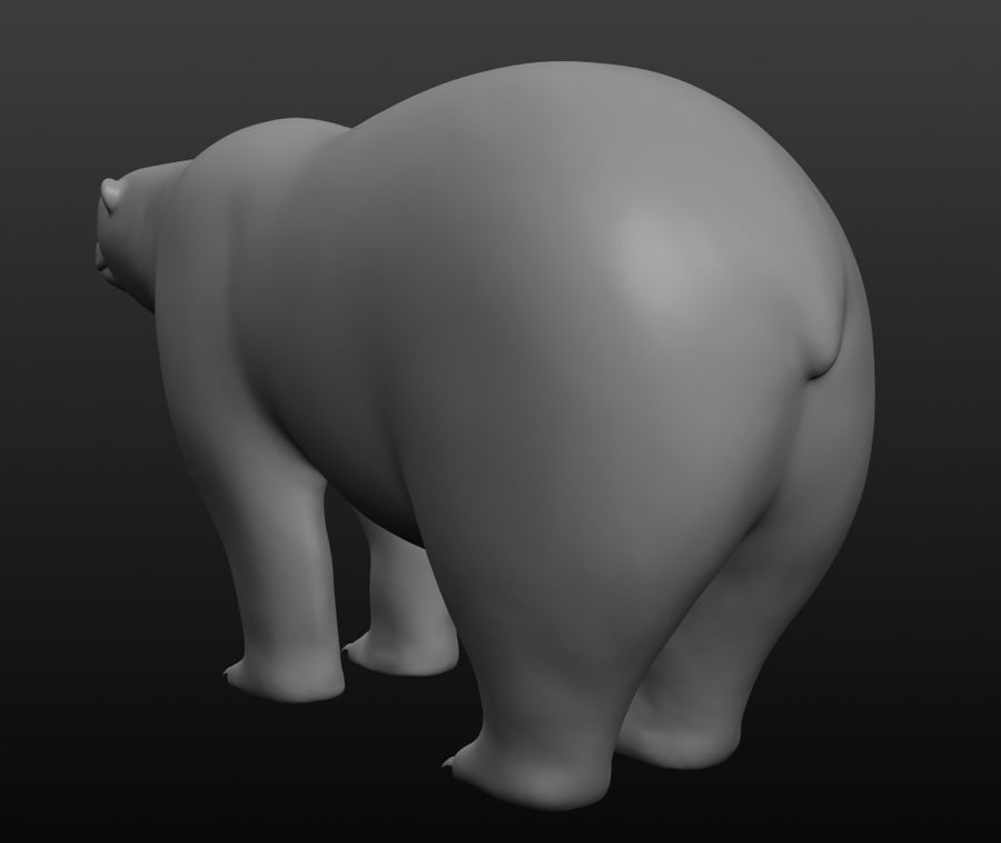 Urso polar royalty-free 3d model - Preview no. 10