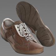 brązowe buty 3d model