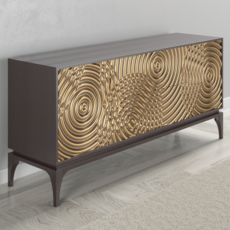 John Richard Ripples Sideboard royalty-free 3d model - Preview no. 5