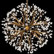 John Richard Spherical Twelve-Light Quartz Chandelier 3d model