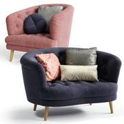 Alexander & James JEAN 스너글 러 의자 및 안락 의자 3d model