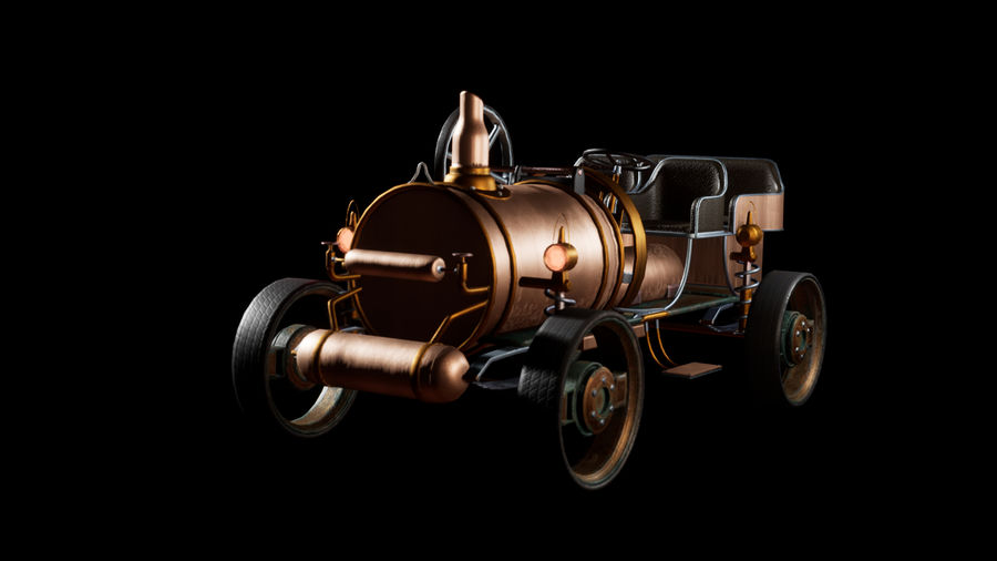 SteamPunk oude auto / auto royalty-free 3d model - Preview no. 1